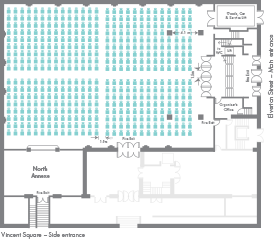 Examinations floor plan - small view